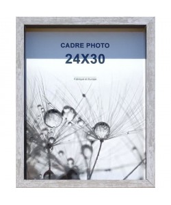 Cadre photo Coffre Harry 24x30 cm Gris