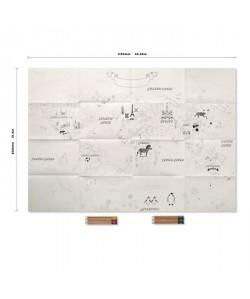 REEVES Poster a colorier  Carte du Monde  114 x 60 cm
