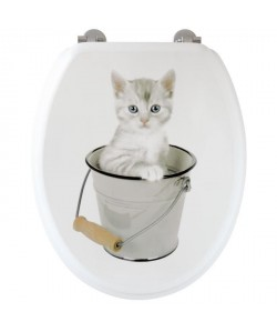 GELCO Abattant WC moule chaton