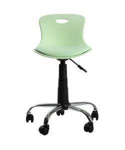 LYLO Chaise de bureau  Simili vert d\'eau  Vintage  L 44 x P 51,5 cm