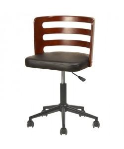 SAMANTHA Chaise de bureau  Simili noir  Style contemporain  L 46 x P 48 cm