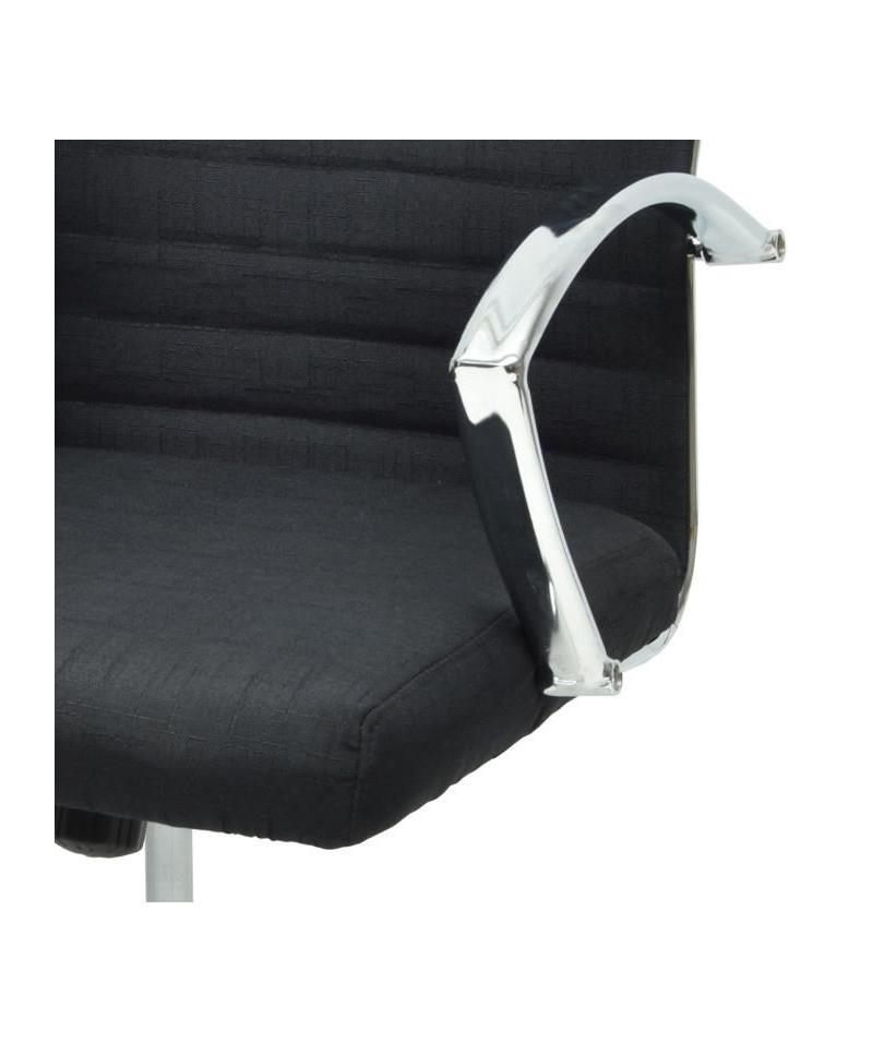 60 L Tissu P Style 57 X Cm Noir De Solera Fauteuil Bureau Contemporain A5Rj34L