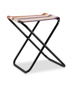 EREDU Tabouret Pliante Maxi 521/L  PVC Tissé  Noir et Multicolore