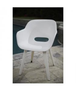 ALLIBERT JARDIN Lot de 2 fauteuils Akola  Coque blanc