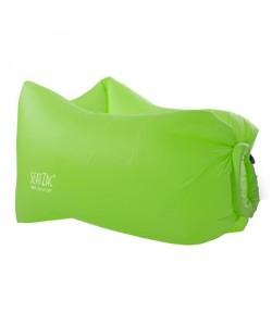 SEATZAC Fauteuil gonflable en polyester avec Light Kit Led  100x70x80cm  Vert