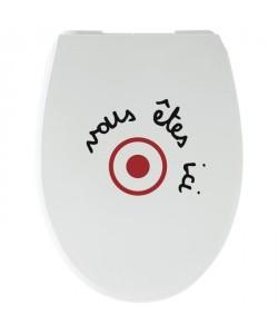 GELCO Abattant WC Ici Multi blanc