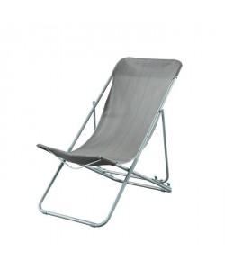 BEAU RIVAGE Set de 2 chaises relax de jardin Ibiscus en acier  Rose