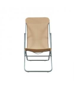 BEAU RIVAGE Set de 2 chaises relax de jardin Ibiscus en acier  Taupe