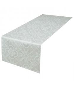 VENT DU SUD Chemin de table FARO  47x150 cm  Blanc perle