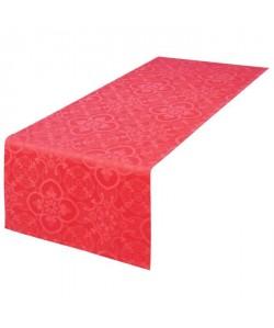 VENT DU SUD Chemin de table FARO  47x150 cm  Rouge vermeil