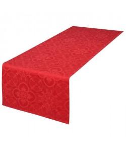 VENT DU SUD Chemin de table FARO  47x150 cm  Rouge rubis