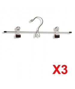 MHOME Lot de 3 pinces jupes chrome Line (32 cm)