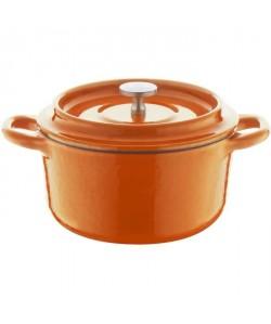 BERNDES Cocotte a rôtir avec couvercle SPECIALS Fonte  Ř10 cm  Orange