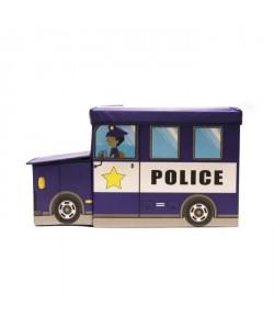 Coffre Boîte de Rangement Police 56,2x24,8x31 cm