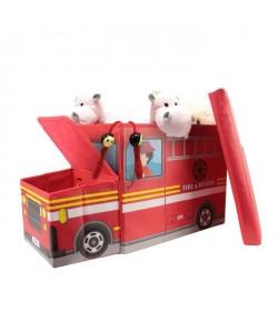 Coffre Boîte de Rangement Pompier  56,2x24,8x31 cm  Rouge