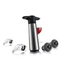 Coffret Wine Saver VacuVin acier 5 pieces