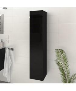 LUNA / LIMA Colonne de salle de bain L 25 cm  Noir brillant