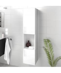 LUNA / LIMA Colonne de salle de bain L 25 cm  Blanc brillant