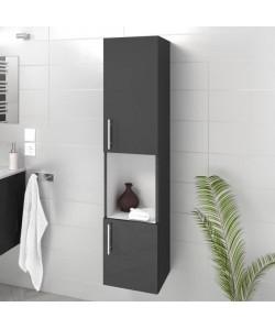 LUNA / LIMA Colonne de salle de bain L 25 cm  Gris brillant
