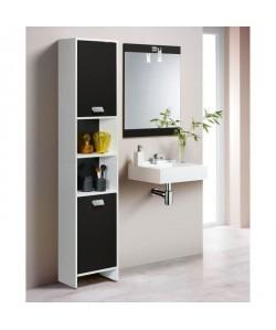 TOP Colonne de salle de bain L 39 cm  Blanc et noir