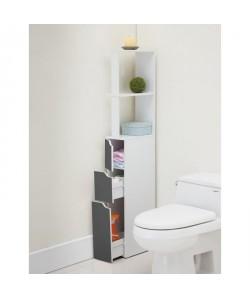 TOP Colonne de toilette L 15 cm  Blanc et gris