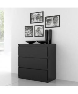 FINLANDEK Commode de chambre NATTI style contemporain noir  L 77,2 cm