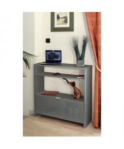SCHoeS Console style contemporain gris brillant Brillant  L 93 cm