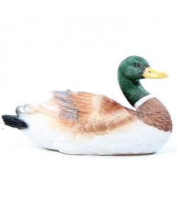 HOMEA Canard en polyrésine  11x25x14cm  Blanc
