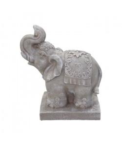HOMEA Eléphant déco 33x18xH40 cm creme