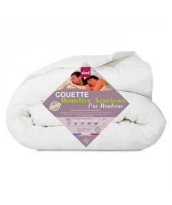 ABEIL Couette Chaude AntiAcariens PUR BONHEUR 240x260 cm blanc