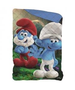 SCHTROUMPF Couette Imprimée 140x200 cm  Bleu