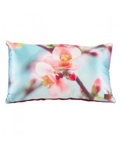 Coussin satin Cerisier 30 cm bleu