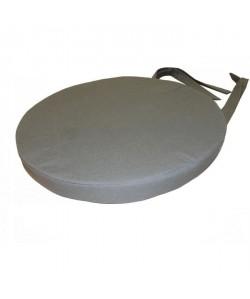Galette de chaise ronde 40x4 cm GRIS FONCE