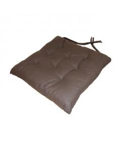 Galette de chaise 8 points 40x40x4 cm CHOCOLAT