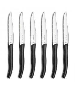 AMEFA Coffret de 6 couteaux steaks Gamme Sky  Noir