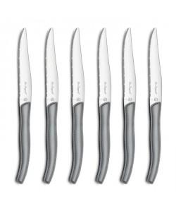 AMEFA Coffret de 6 couteaux steaks Gamme Sky  Gris