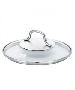 BEKA Couvercle en verre CRISTAL 20cm transparent et gris