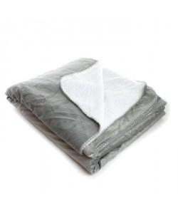 ANDORA Plaid Jessie  180x220 cm  Gris  100% polyester