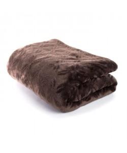 ANDORA Plaid Kassidy  130x160 cm  Chocolat  100% polyester