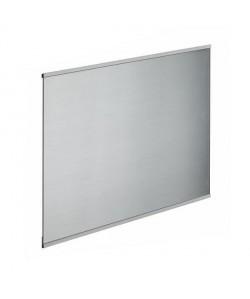 Crédence en verre de 5mm d\'épaisseur style inox  60x45cm