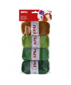 APLI Pelotes de laine  4 unités