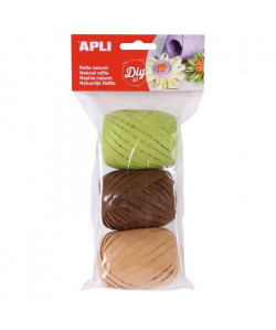 APLI Raphia naturel tons nature