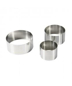 EQUINOX Lot de 3 emportes pieces 6810 cm gris
