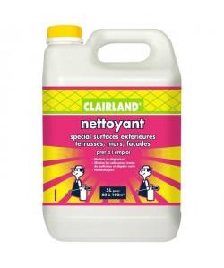 CLAIRLAND Nettoyant spécial surfaces extérieures terrasses, murs et façades  Solution prete a l\'emploi pour pulvérisateur