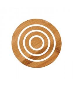 LADELLE Sousplat rond  Motif  Blanc  Bambou et silicone  17 x 17 x 1 cm