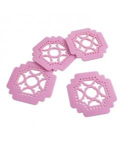 SP Lot de 4 sousverres Dream  10 cm  Rose feutre