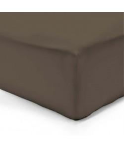 VISION Drap housse 140x190  25 cm chocolat