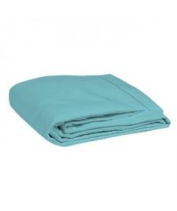 COTE DECO Drap plat 100% coton 57 fils 240x300 cm  Bleu turquoise