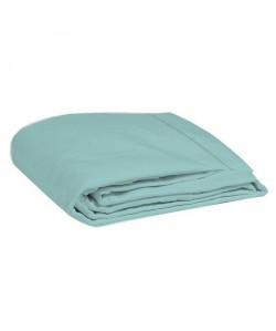 COTE DECO Drap plat 100% percale de coton  240x290 cm  Bleu céladon