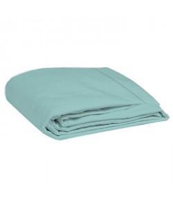 COTE DECO Drap plat 100% percale de coton  270x290 cm  Bleu céladon